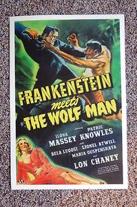 Frankenstein Meets the Wolf Man Lobby Card Movie Poster Bela Lugosi Ilona Massey