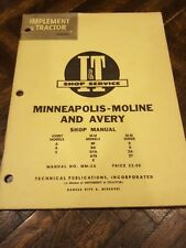 Minneapolis Moline Avery A R V Bf V Gta R U Za Mm 2a Iampt Tractor Service Manual