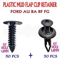 100PC Ford Falcon AU BA BF FG Plastic Mud Flap Clip Retainer XMAS Tree Push In