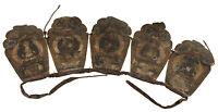 Antica Coiffre Couronnes Elegante Rituale Monaco Buddista Dhyani Budda Tibet