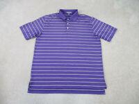 Peter Millar Polo Shirt Adult Extra Large Purple Yellow Summer Comfort Mens B13