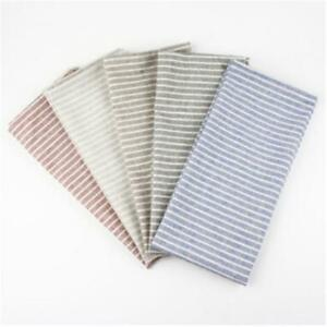 Striped Linen Cloth Napkins Dinning Room Placemats Dining Table Napkin Mat SPM
