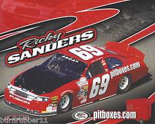 "2017 RICKY SANDERS ""PIT BOXES.COM"" #69 NON NASCAR ARCA SERIES POSTCARD"