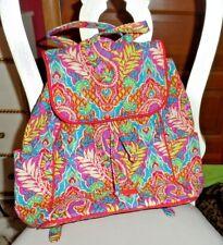 Vera Bradley drawstring backpack in Paisley in Paradise NWT