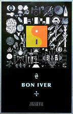 BON IVER 22, A Million 2016 Ltd Ed RARE New Poster +FREE Indie Folk Rock Poster!
