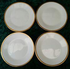 Vintage 4x Minton Horizon 16cm Side Plates White Gold Trim 60s