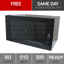 6U Server Rack Network Cabinet 19 inch 500 x 300mm Black