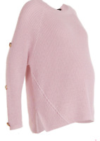 Boohoo Maternity Pregnancy Jumper Sweater UK 8-16 Rose Pink Fisherman's Knit