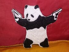 Banksy Panda Embroidered Patch Iron-on Good Luck Magic Charm