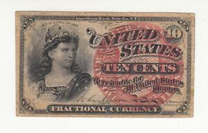 USA 10 cents 1863 circ. @ low start