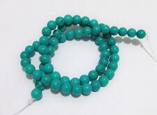 1filo/65pz  perline pietre in turchese naturale 6 mm colore turchese bijoux