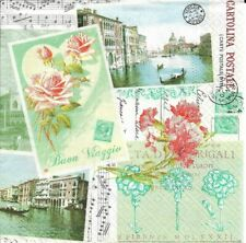 Lot de 2 Serviettes en papier Venise Decoupage Collage Decopatch