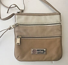 Calvin Klein Cross Body Purse Bag Messenger Leather