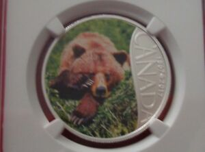 2017 CANADA $10 - Grizzly Bear - Fine Silver Coin - NGC PF 70 Matte FR