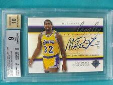 2005-06 ULTIMATE MAGIC JOHNSON 6/13 LOYALTY SIGNATURES AUTO BGS 9.0 w/10 JF