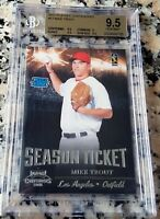 MIKE TROUT 2011 RATED Rookie Card RC BGS 9.5 GEM Los Angeles Angels ROY AS MVP $