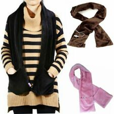 Portable Windproof Warm Velvet USB Electric Heated Scarf Neck Winter Warmer