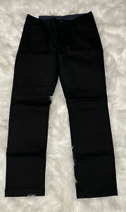 Perry Ellis Portfolio Men's Anywhere Black Denim Pants Active Flex Waistband NEW