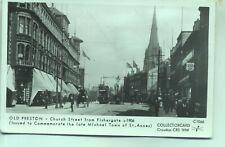 Pamlin repro photo postcard C1066 Tram Church Street PRESTON c1906