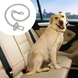 Dog Car Seat Belt for Large Dogs Stainless Steel Harness Restraint Clip Leads