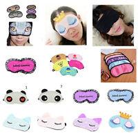 Eye Masks Sleep Mask Blindfold Blackout Travel Padded Silk/Cotton/Polyes-dIHS