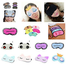 Cute Soft Sleeping Eye Mask Blindfolds Shade Travel Sleep Aid Covers Light Guide