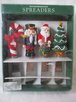 Boston Warehouse Spreaders Set Of 4 - Christmas - Nutcracker Santa Tree Cane
