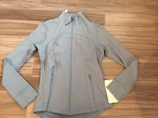 Lululemon Size 10 Define Jacket Scap Grey Blue NWT Forme Zip Up New Run Fit