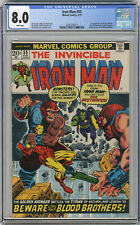1973 Iron Man 55 CGC 8.0 1st Thanos White Pages