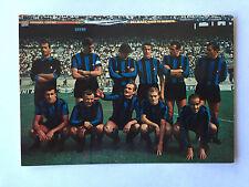 INTER FC  CARTOLINA FORMAZIONE SCHIERATA ANNO 1967-68 EDIZIONI ADF MILANO