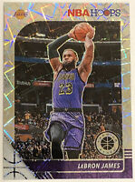 2019-20 NBA Hoops Premium Stock Lebron James # 87 Silver Laser Prizm Refractor