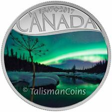 2017 Celebrating Canada's 150th #9 Aurora Borealis Yukon YT $10 Silver Proof