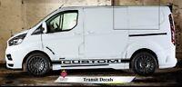 Transit Custom Van Decals Side Stripes ANY COLOUR Graphics Vinyl Fits Tourneo