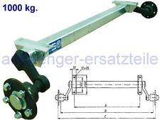 HGW 1000 kg. Achse ungebremst - AM: 1100 mm  AS: 5*112