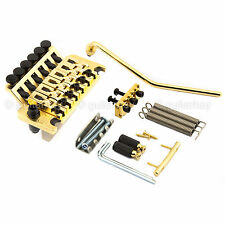 NEW Schaller Floyd Rose Locking TREMOLO Bridge & Whammy w/ R2 Locking Nut - GOLD