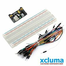 65 Pcs MALE TO MALE JUMPER WIRES+MB102 BREADBOARD 830P+MB102 POWER SUPPLY BE0116