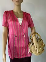 River Island Neon Colour Party Cocktail Blouse Tunic Top Size  8