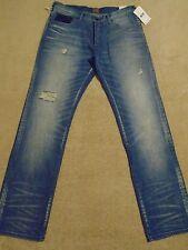 PRPS BARRACUDA Ripped Creased Straight Legs Men Jeans 36 / 35 / 34 Orig. $275