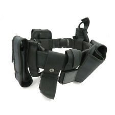 Black Tactical Nylon Police Security Guard Duty Belt Utility System With Pouch