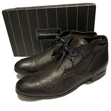ERMENEGILDO ZEGNA Dark Brown CHUKKA BOOTS SIZE 9 (10 US) RRP: $675