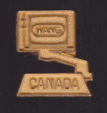 Vintage Wang Computer Canada Small Pinback Pin - Good