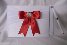 Wedding Party Reception ~Fireman Firefighter~ Guest Book & Pen Set  Red Bow