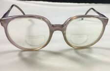 1980's Clear Purple Oversized Round Frame Womens Prescription Eyeglasses