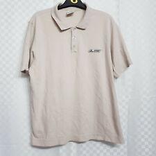 Mens ADIDAS Golf Polo T-Shirt Size XL Beige Stone 100% Cotton Short Sleeves