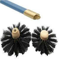 BAILEY CHIMNEY FLUE AND DRAIN SWEEPING BRUSHES, UNIVERSAL DRAIN ROD FITMENT