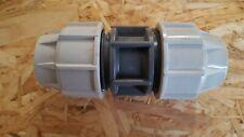 Plasson Kupplung 40 x 40 mm Verbinder  PE-Rohr DVGW-W 180100040