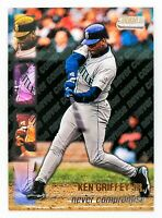 Ken Griffey Jr. #NC3 (1999 Stadium Club) Never Compromise, Seattle Mariners, HOF