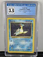 Pokemon Lapras Holo Unlimited Fossil 10/62 CGC 3.5! 1999!
