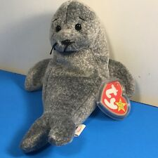 1996 Beanie Babies Plush Stuffed Animal Retired Ty Tag Slippery Seal Hologram