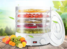 5 Tray New Electric Food Dehydrator Fruit Vegetable Dryer Beef Snack Jerky White